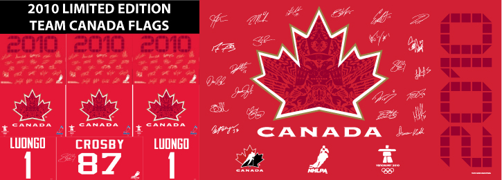 Team Canada Flags - Limited Edition 2010 Flags, Flags Vancouver, Vancouver, BC