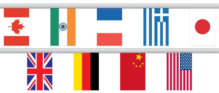 International Country Flag Pennant Strings