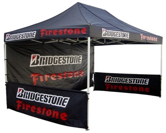 10 x 15 Pop Up Tent with Logos - Custom Printed Canopies with Logo & Backwalls