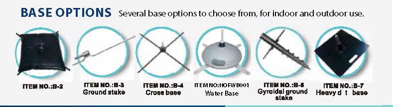 Indoor & Outdoor Base Options