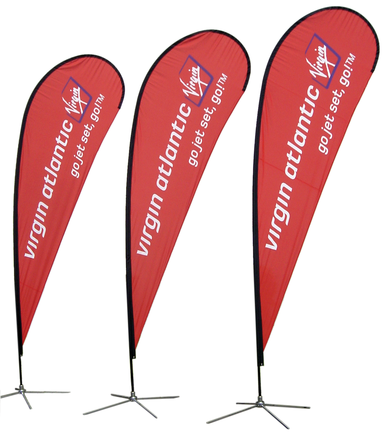 Teardrop Flags Custom Printed Vancouver, with delivery to Coquitlam, Burnaby, Langley, Richmond, North Vancouver, West Vancouver, Lower Mainland & Fraser Valley